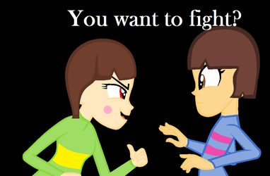 You want to fight? by Evomatsuno