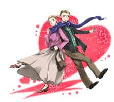 Sherlock:: John and Mary by caylren