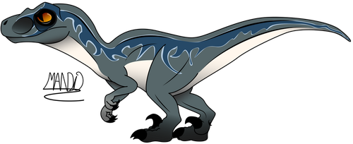Velociraptor Blue by rainbowarmas