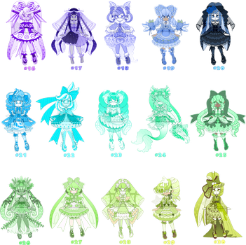 HUEVEMBER Inkling Adopts - $10 Paypal - Set 2 by Ghiraham-Sandwich