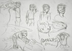 Hiccup Sketchdump #7 by MonoFlax