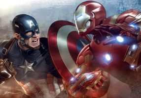Captain America: Civil War by fernandogoni