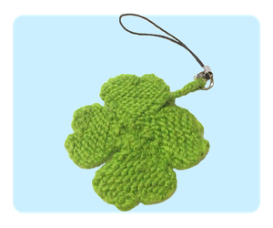 Four Leaf Clover Keychain Free Knitting Pattern by AmareeLis