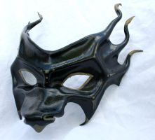 Black Dragon Mask by Silverfaune