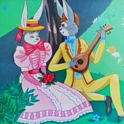 Early 1900's Bunny Couple by FlapperFoxy