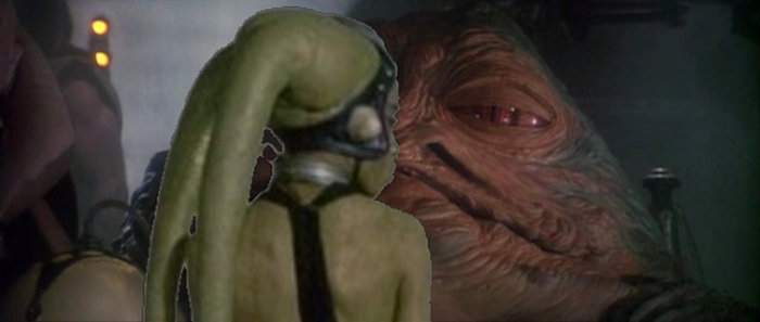 Jabba and Oola kissing by Jdueler11