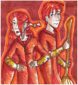Redness....Ron and Ginny by bachel60