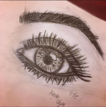 Realistic Eye Drawing by Leffyart