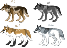 Canine Point Adoptables OPEN - ONE LEFT by Falyn-adopts