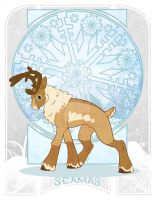 Reindeer Art Nouveau by EllisArts