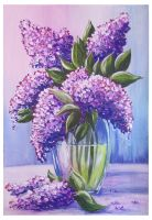 Lilacs in a vase by Alena-48