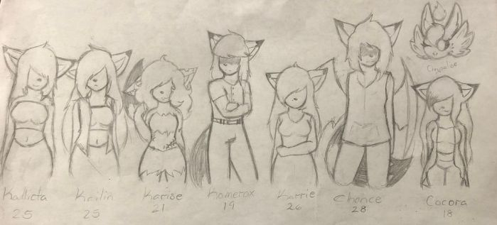 Rodent Line-Up B'l by Kaiister323
