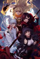 RWBY - Teamwork! by lucidsky