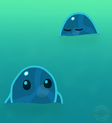 Puddle Slimes (Slime Rancher) by Trupokemon