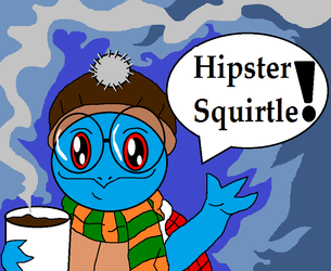 Hipster Squirtle (Facebook Request) by McGreger16