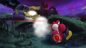 Red Yoshi with a Win! (Smash Sunday) by AzureCrazed