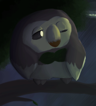 Animated: Rowlet in the park by captainbobbin