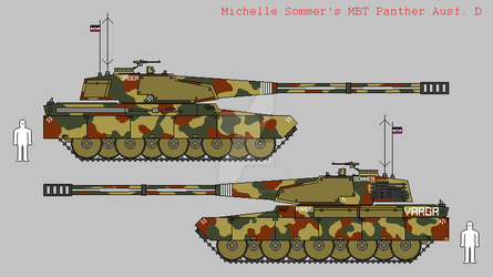 Michelle Sommer's MBT Panther Ausf. D 'VARGR' by IgnatiusAxonn