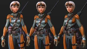 Exoskeleton Sniper - Closeup by Goraaz