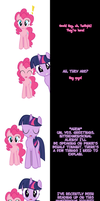 Pinkie and Twilight say Goodnight! by Undead-Niklos