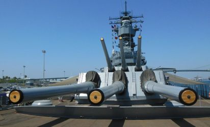 View of USS Iowa from Forecastle by rlkitterman