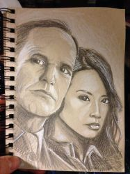 Agents Coulson and May from Agents of S.H.I.E.L.D. by amonkeyonacid