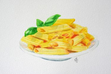 The pasta dish by Emi-Gemini