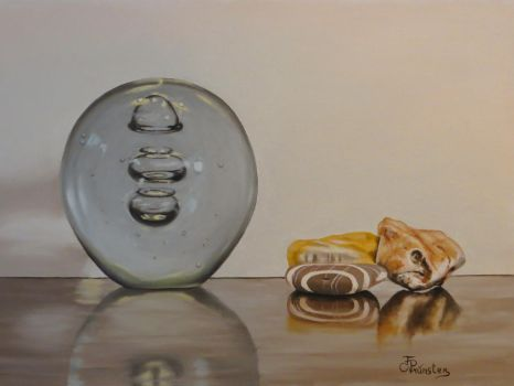 Still Life with glass and stones by ArtbyFlorian