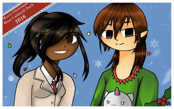 West Caldwell Tech Christmas Poster by Ariabelle90