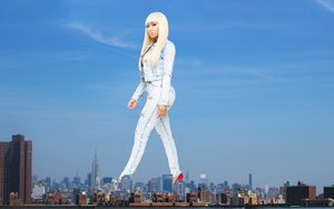 Giantess Nicki Minaj in New York by DeckartJohn