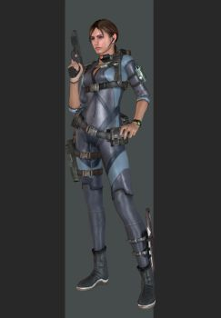 XPS - REV1 - Jill Valentine Wetsuit Outfit. by henryque999