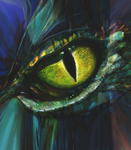 Dragon eye by Lusidus