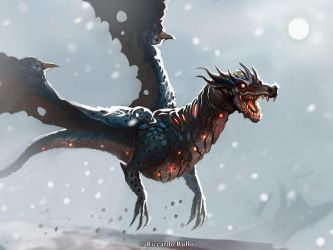 Blue skull dragon: version two by shiprock