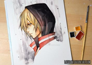 Yuri Plisetsky - 3 Watercolor Challenge by Laovaan