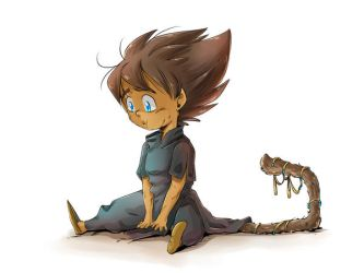 DBZ - grown up under Ruins: Kid Vegeta by RedViolett
