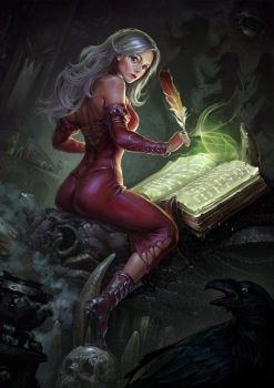 Grimoire writer Eirene by Igor-Grechanyi