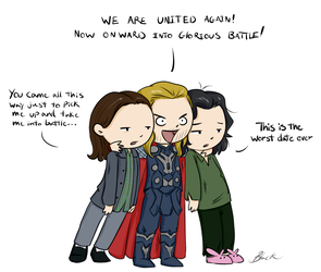 Thor 2: Adventures in dating. by caycowa