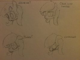 Claire Facial Expressions by ZombieTator