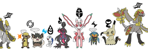 Totem Pokemon doing Z Poses
