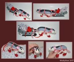 Needle Felted Husky Sleigh Rat by wolfysilver