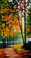 Hot Noon In The Forest by Leonid Afremov by Leonidafremov