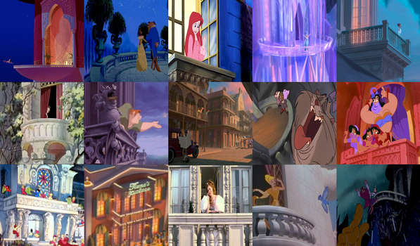 Disney Balconies in Movies by dramamasks22