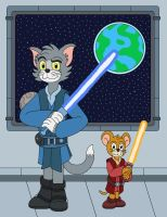Tom and Jerry the Jedi Knights by MCsaurus