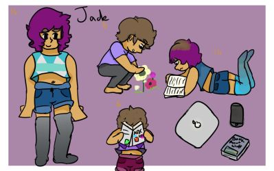 Jade Character sheet -new oc by 123-diamond-blue