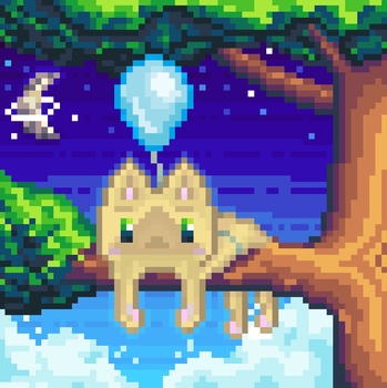 2nd Pixel Art - Space Cat! by TrepkSoto