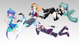 MMD - Floating on The Air (+Pose) by KuMiAsa