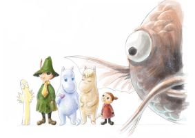 Moomin Character Design by FabienMater