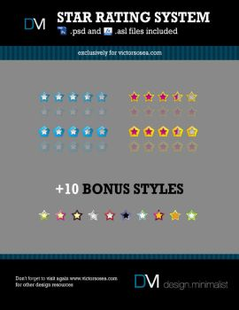 Rating System Free PSD by victorsosea