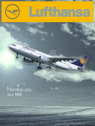 Lufthansa Poster by Juniorsky