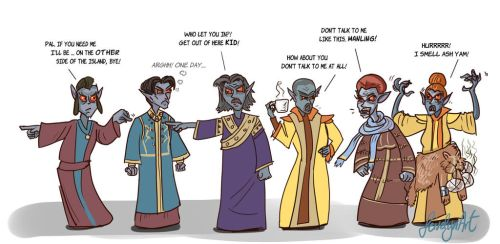 Telvanni Council by Feivelyn